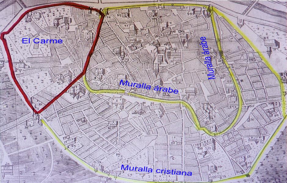 Barrio histórico del Carmen Índice