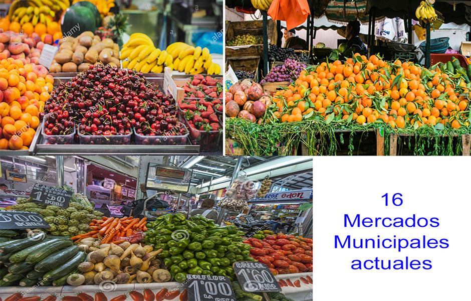 16 Mercados Municipales actuales